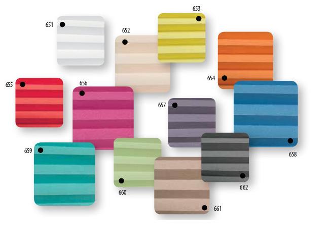 kolorystyka rolety plisowanej Fakro APS