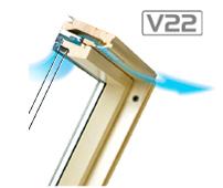 nawiewnik Fakro V22