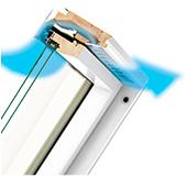 nawiewnik Fakro V40P w oknie dachowym fpu-v u3 preselect