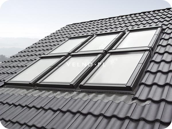 Zespolenie poziomo - pionowe 6 okien dachowych Fakro
