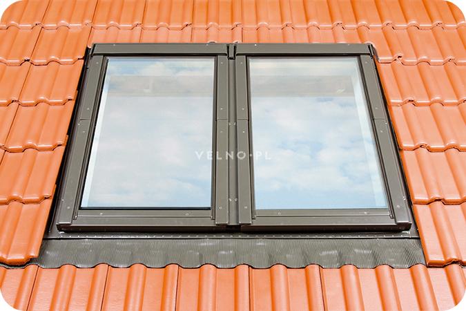 Zespolenie poziome dwóch okien dachowych Fakro
