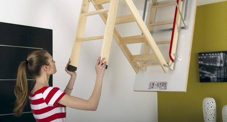Schody strychowe Fakro drewniane LWK Plus