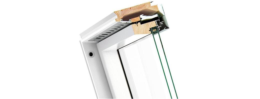 Konstrukcja okna dachowego Fakro FTU-V U4