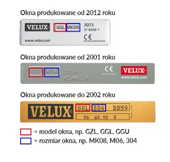przyklady tabliczek znamionowych velux